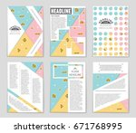 abstract vector layout... | Shutterstock .eps vector #671768995