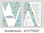 abstract vector layout... | Shutterstock .eps vector #671770327