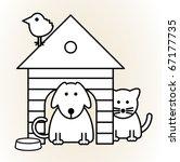 Stock vector pets vector illustration 67177735