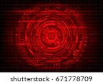 abstract technology malware... | Shutterstock .eps vector #671778709