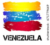 flag of venezuela from brush... | Shutterstock .eps vector #671779669