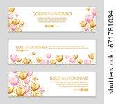 heart balloon banners. heart... | Shutterstock .eps vector #671781034