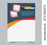 flyer design template. abstract ... | Shutterstock .eps vector #671782471