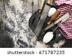 baking concept kitchen cooking... | Shutterstock . vector #671787235