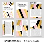 abstract vector layout... | Shutterstock .eps vector #671787631