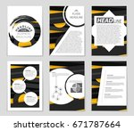 abstract vector layout... | Shutterstock .eps vector #671787664