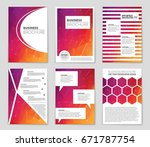 abstract vector layout... | Shutterstock .eps vector #671787754