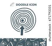 target doodle | Shutterstock .eps vector #671793331