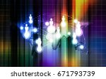 world communication colorful... | Shutterstock . vector #671793739