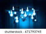 technology communication... | Shutterstock . vector #671793745