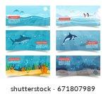 world ocean vector... | Shutterstock .eps vector #671807989