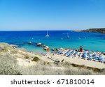 sandy beach coast in the... | Shutterstock . vector #671810014