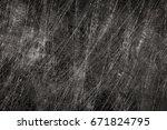 dark metal scratch | Shutterstock . vector #671824795