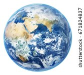 earth globe isolated on white... | Shutterstock . vector #671824837