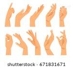 hand gestures in different... | Shutterstock .eps vector #671831671