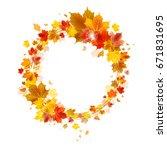 Autumn Wreath Of Maple Leaves...