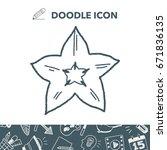 star fruit doodle | Shutterstock .eps vector #671836135