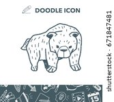 bear doodle | Shutterstock .eps vector #671847481