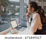 side view of young business... | Shutterstock . vector #671849317