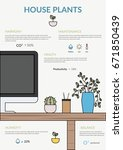 house plants infographics.... | Shutterstock .eps vector #671850439