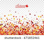 fall bright seamless background ... | Shutterstock .eps vector #671852461