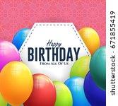 happy birthday concept... | Shutterstock .eps vector #671855419