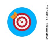 arrow hitting target flat icon. ... | Shutterstock .eps vector #671860117