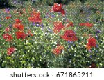 mosaic nature background. the... | Shutterstock .eps vector #671865211