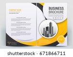 vector brochure layout  flyers... | Shutterstock .eps vector #671866711