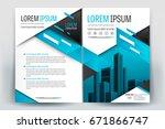 vector brochure layout  flyers... | Shutterstock .eps vector #671866747