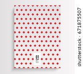 abstract minimal book cover... | Shutterstock .eps vector #671875507