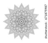 floral mandala  vector... | Shutterstock .eps vector #671875987