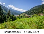 ayder plateau  rize  turkey.the ... | Shutterstock . vector #671876275