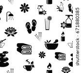 illustration spa icons set....   Shutterstock . vector #671880385