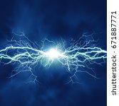 thunder bolt  industrial and... | Shutterstock . vector #671887771