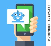 intelligent personal assistant  ... | Shutterstock .eps vector #671891557