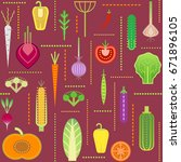 seamless trendy pattern with... | Shutterstock .eps vector #671896105