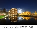 modern new residential district ...   Shutterstock . vector #671901049