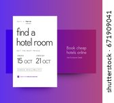 book cheap hotels online ui... | Shutterstock .eps vector #671909041