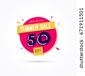 summer sale 50  off label | Shutterstock .eps vector #671911501