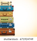 background with closed old... | Shutterstock .eps vector #671924749