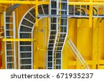 cable tray with electrical...   Shutterstock . vector #671935237