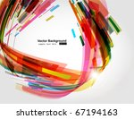 abstract background vector | Shutterstock .eps vector #67194163