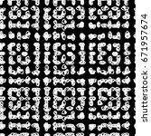 vector tie dye seamless pattern.... | Shutterstock .eps vector #671957674