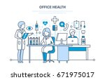modern medicine and healthcare... | Shutterstock .eps vector #671975017