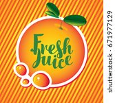 vector banner with orange and... | Shutterstock .eps vector #671977129