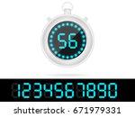 digital stopwatch | Shutterstock .eps vector #671979331