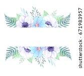 watercolor illustration. floral ... | Shutterstock . vector #671983957