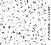 seamless pattern with alphabet  ... | Shutterstock .eps vector #671984554