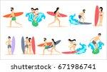 big set of illustrations of... | Shutterstock . vector #671986741